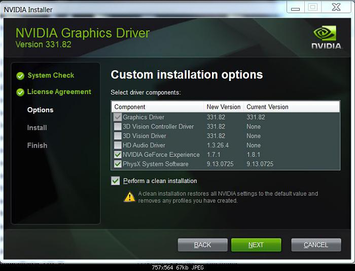 clean install drivers