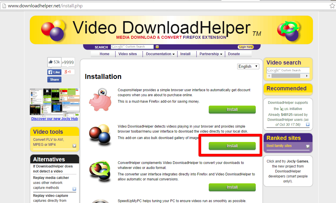 DownloadHelper - Media download Firefox extension - Google Chrome 2014-10-30 21.04.28