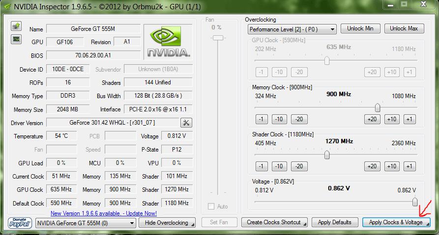 Программа для разгона видеокарты nVidia