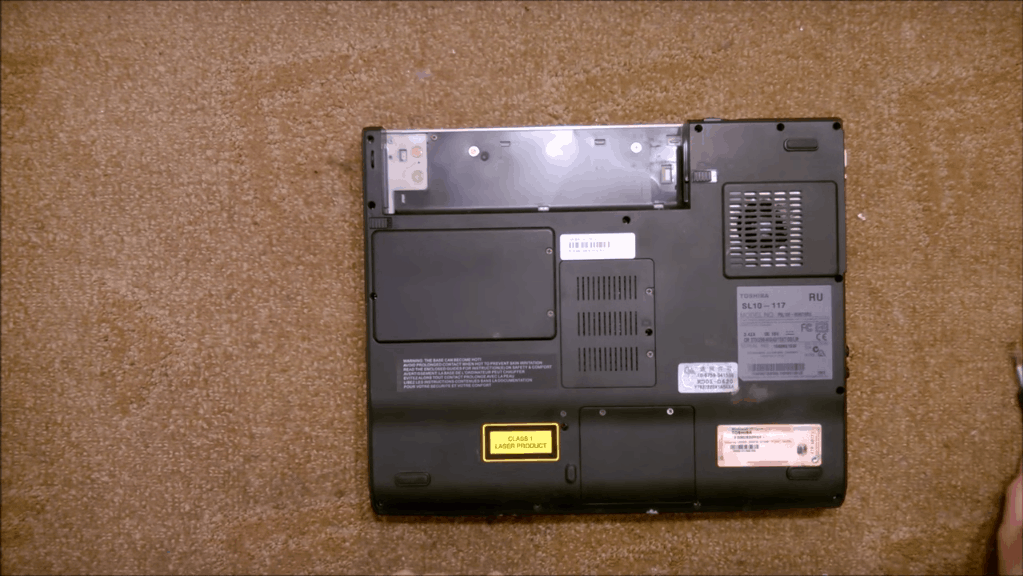Как разобрать ноутбук Toshiba Satellite SL10