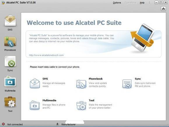 Загрузка Alcatel PC Suite
