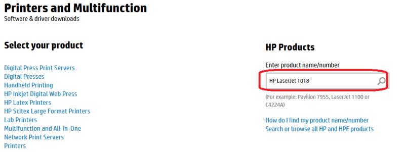 Драйвер для HP LaserJet 1018
