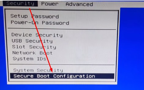 security-boot-configuration
